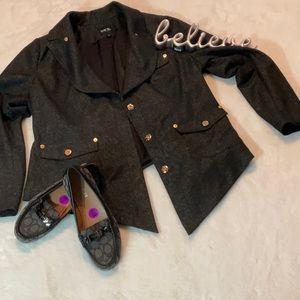 Isabel Toledo shimmery coat EUC